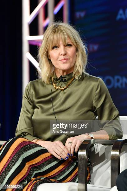 Ashley Jensen of Agatha Raisin speak during the Acorn TV segment of the 2020 Winter TCA Press Tour at The Langham Huntington Pasadena on January 16...