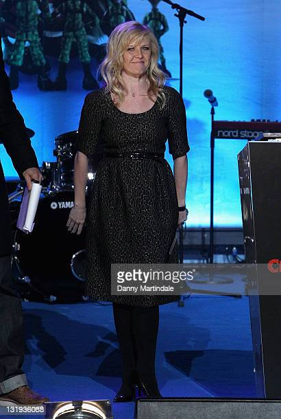 Ashley Jensen on stage during the switchon of the Regent Street Christmas lights celebrating the new film 'Arthur Christmas' on November 8 2011 in...