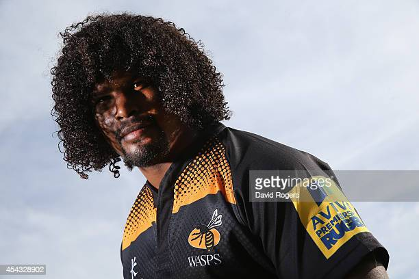 Ashley Johnson of Wasps poses at the photocall held at Twyword Avenue on August 29 2014 in Acton England