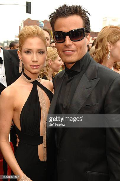 Ashley Jones and Antonio Sabato Jr during 33rd Annual Daytime Emmy Awards Red Carpet at Kodak Theater in Hollywood California United States