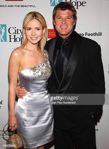 Ashley Jones and Winsor Harmon during City of Hope 2005 Award of Hope Gala Arrivals at Beverly Hilton Hotel in Beverly Hills California United States