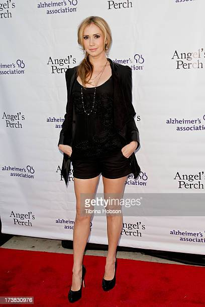 Ashley Jones attends the Alzheimer's Association and Scrappy Cat Productions premiere of 'Angel's Perch' at Laemmles Royal Theatre on July 17 2013 in...