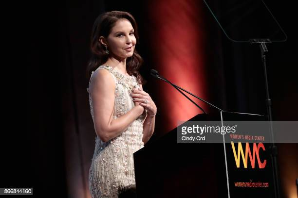 Ashley Judd accepts the WMC Speaking Truth To Power Award onstage at the Women's Media Center 2017 Women's Media Awards at Capitale on October 26...
