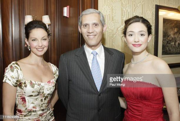 Ashley Judd Ambassador of Guatemala Jose Guillermo Castillo and Emmy Rossum