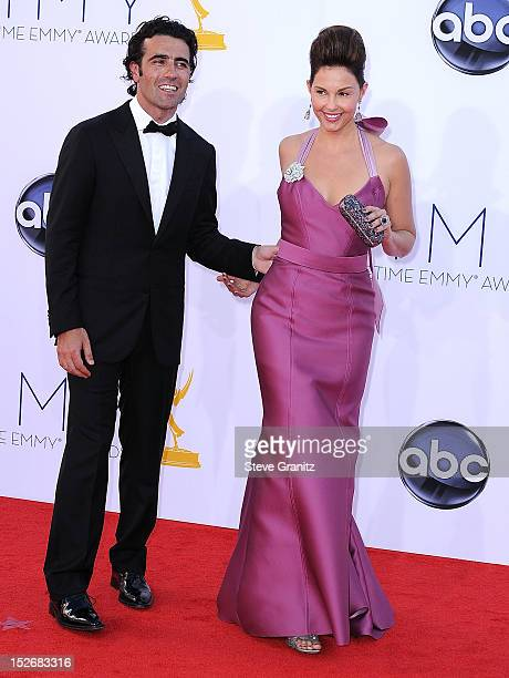 Ashley Judd and Dario Franchitti arrives at the 64th Primetime Emmy Awards at Nokia Theatre LA Live on September 23 2012 in Los Angeles California