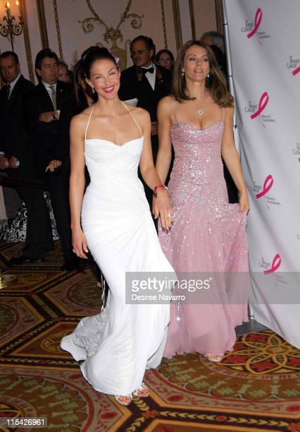 Ashley Judd and Elizabeth Hurley during The Breast Cancer Research Foundation Presents 'The Very Hot Pink Party' April 10 2006 at Waldorf Astoria in...