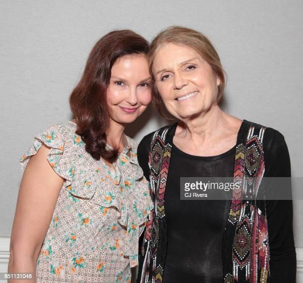 Ashley Judd and Gloria Steinem attend the APNE Aap dinner on September 21 2017 in New York City