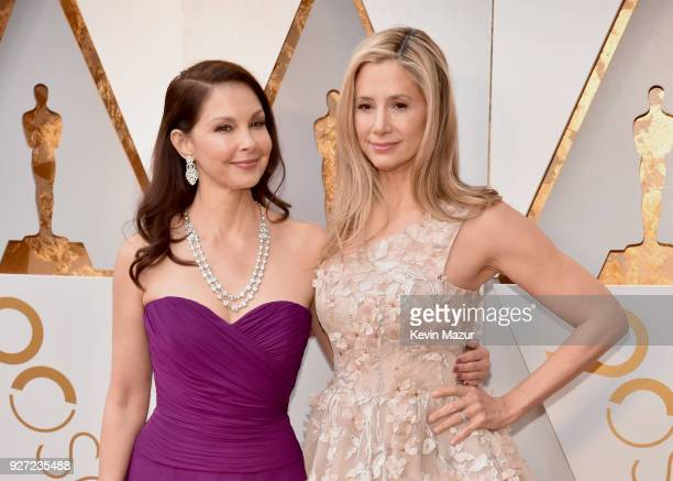 Ashley Judd and Mira Sorvino attends the 90th Annual Academy Awards at Hollywood Highland Center on March 4 2018 in Hollywood California