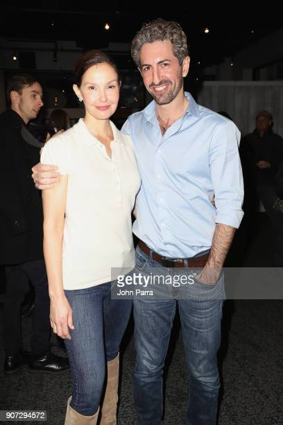 Ashley Judd and Moran Cerf attend The Hollywood Reporter Viacom Reception at The Hollywood Reporter 2018 Sundance Studio at Sky Strada Park City on...