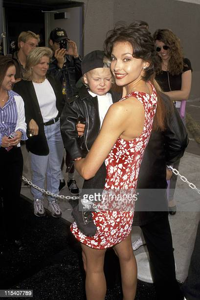 Ashley Judd and Nephew Elijah Kelley during Nickelodeon's 10th Annual Kids Choice Awards at Olympic Auditorium in Los Angeles California United States
