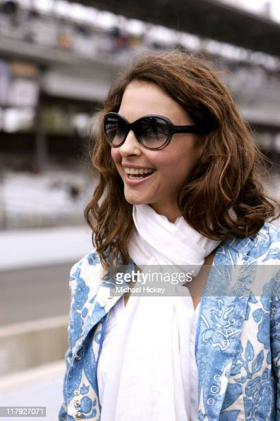 Ashley Judd at the Indianapolis Motor Speedway in Indianapolis Indiana watching her husband Dario Franchitti qualify for the Indianapolis 500 on May...