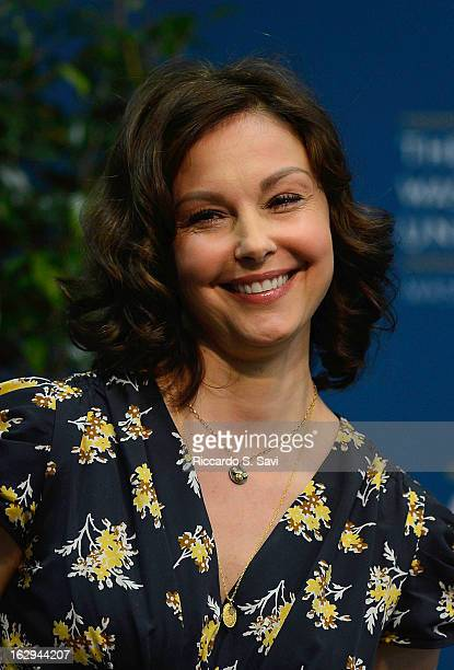 Ashley Judd attends the Progress And Perspectives Women's Reproductive Health A Conversation With Ashley Judd at George Washington University on...