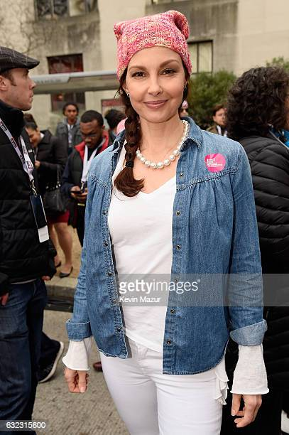 Ashley Judd attends the rally at the Women's March on Washington on January 21 2017 in Washington DC