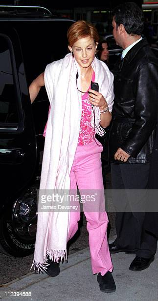 Ashley Judd during Ashley Judd Arrives at MTV's 'TRL' March 29 2001 at MTV Studios Times Square in New York City New York United States