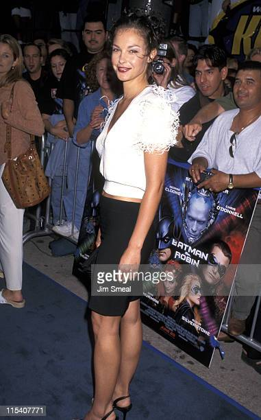 Ashley Judd during Batman Robin Los Angeles Premiere at Mann's Bruin Theater in Westwood California United States