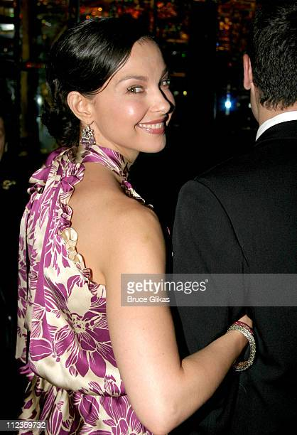 Ashley Judd during Opening Night of 'Cat on a Hot Tin Roof' on Broadway Arrivals at Tavern on The Green in New York City New York United States