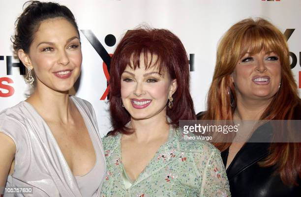 Ashley Judd Naomi Judd and Wynonna Judd during YouthAids Second Annual Benefit Gala at Capitale in New York City New York United States