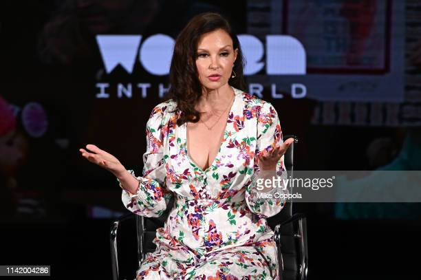 Ashley Judd speaks onstage at the 10th Anniversary Women In The World Summit Day 2 at David H Koch Theater at Lincoln Center on April 11 2019 in New...