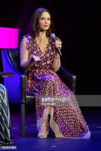 Ashley Judd speaks onstage at Time's Up during the 2018 Tribeca Film Festival at Spring Studios on April 28 2018 in New York City