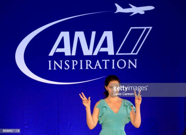 Ashley Judd the American actress speaks as the headline speaker during the ANA Inspiring Women in Sports Conference as a preview for the 2018 ANA...