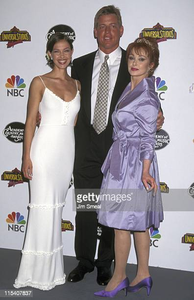 Ashley Judd Troy Aikman and Naomi Judd during The 32nd Annual Academy of Country Music Awards Arrivals and Pressroom at Universal Amphitheatre in...