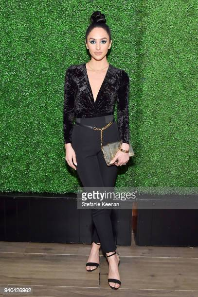 Ashley K Holm attends KKWxMario Dinner at JeanGeorges Beverly Hills on March 31 2018 in Beverly Hills California