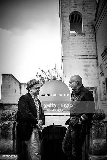 Ashley Kahn and Midge Ure pose during Locus Festival 2016 on July 17 2016 in Locorotondo near Bari Italy