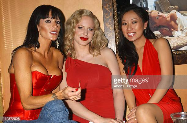 "Ashley Kahsaklahwee, Divini Rae and Lina So during ""A Night with the Gold Coast Girls"" hosted by Jason Erskine at Basque in Hollywood, CA, United..."