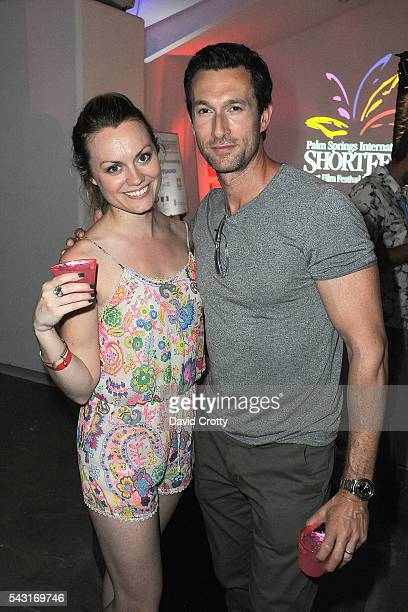 Ashley Kate Adams and Aaron Lazar attend the 2016 Palm Springs International ShortFest Saturday Screenings Events on June 25 2016 in Palm Springs...