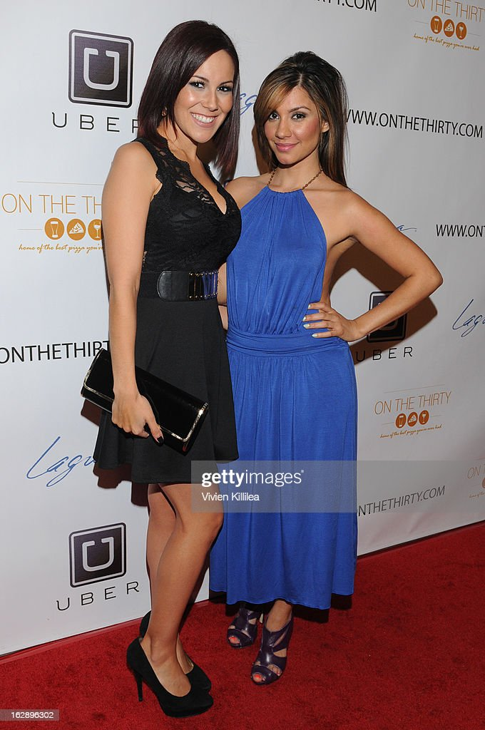 Ashley Kerwin and Erika Arzate attend 'On The Thirty' Grand Opening at On The Thirty on February 28, 2013 in Sherman Oaks, California.
