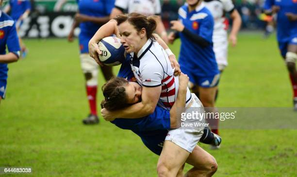 Ashley KMIECIK / Camille GRASSINEAU France / Etas Unis Rugby feminin Photo Dave Winter / Icon Sport