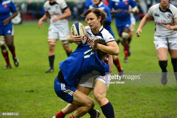 Ashley KMIECIK / Camille GRASSINEAU France / Etats Unis Rugby feminin Photo Dave Winter / Icon Sport