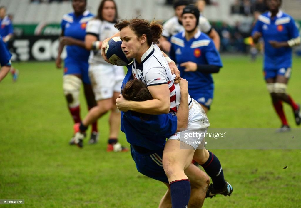 Ashley KMIECIK / Camille GRASSINEAU - - France / Etats Unis - Rugby feminin , Photo: Dave Winter / Icon Sport