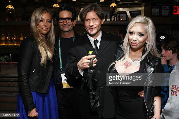 Ashley L Anderson Charles Matthau Crispin Glover and Chanel Benton attend the Tribeca Film Festival 2012 AfterParty for Freaky Deaky at Darby...