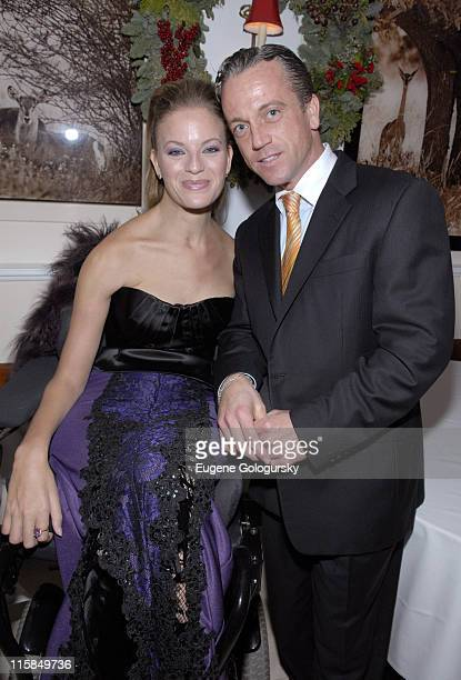 Ashley Lauren Fisher and James Zukowsky during 2007 Rolling with Style Gala at Nello in New York City New York United States