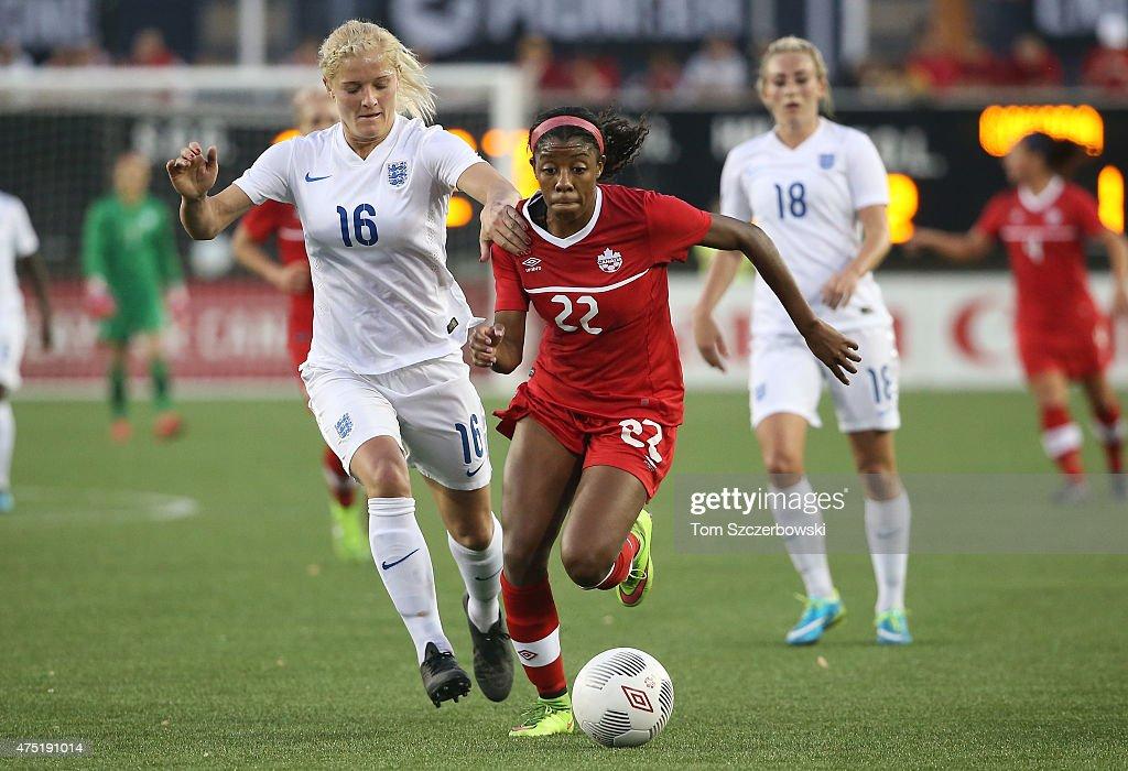 England v Canada : News Photo