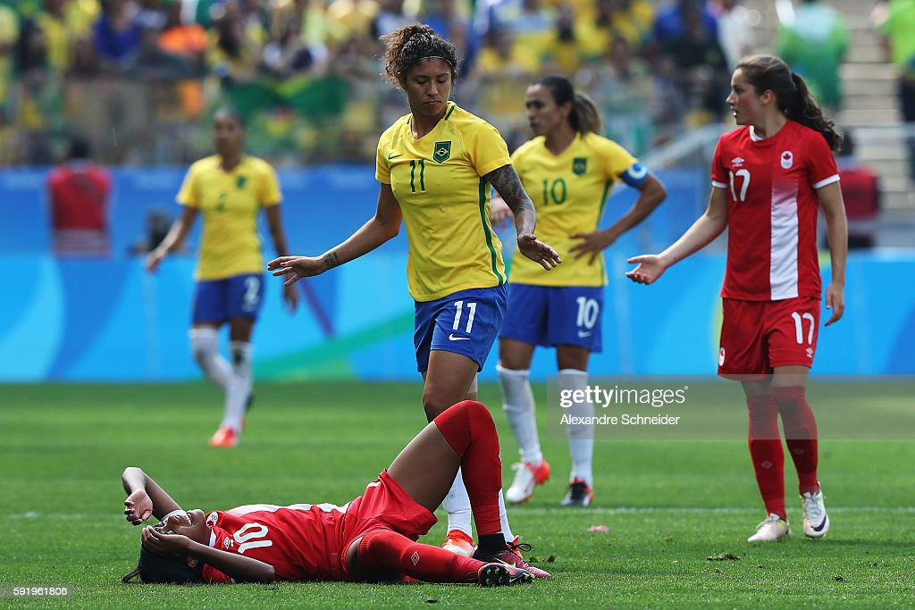Brazil v Canada Bronze Medal Match: Women's Football - Olympics: Day 14 : News Photo