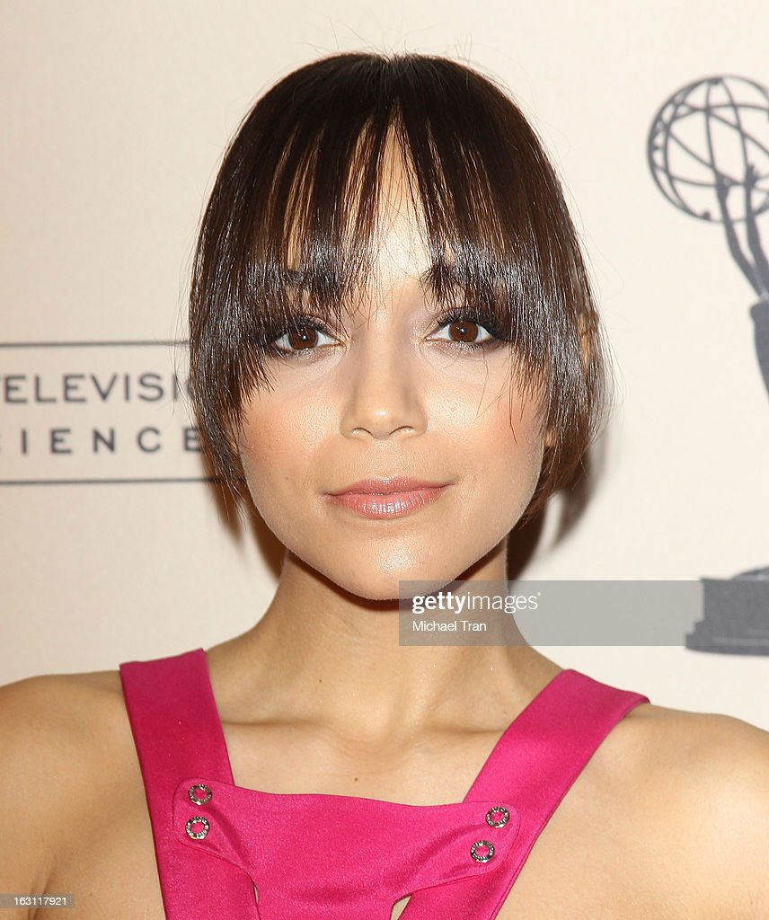 Ashley Madekwe arrives at The Academy of Television Arts & Sciences presents an evening with 'Revenge' held at Leonard H. Goldenson Theatre on March 4, 2013 in North Hollywood, California.
