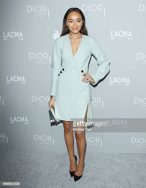 "Ashley Madekwe arrives at the Los Angeles premiere of The Orchard's ""DIOR & I"" held at LACMA on April 15, 2015 in Los Angeles, California."