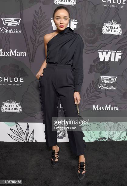 Ashley Madekwe attends the 12th Annual Women In Film Oscar Party at Spring Place on February 22 2019 in Beverly Hills California
