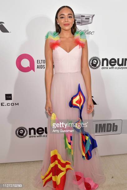 Ashley Madekwe attends the 27th annual Elton John AIDS Foundation Academy Awards Viewing Party celebrating EJAF and the 91st Academy Awards on...