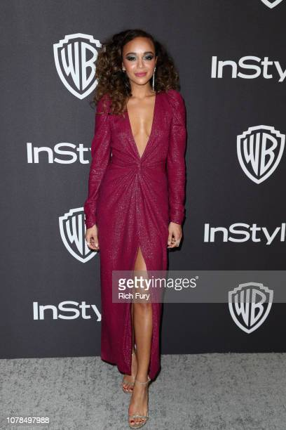 Ashley Madekwe attends the InStyle And Warner Bros Golden Globes After Party 2019 at The Beverly Hilton Hotel on January 6 2019 in Beverly Hills...