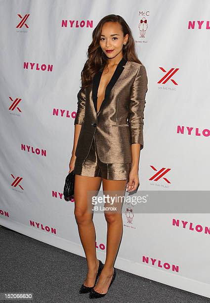 Ashley Madekwe attends the NYLON Magazine And Sony X Headphones September TV Issue Party Hosted By Cover Star Lea Michele at Mr C Beverly Hills on...