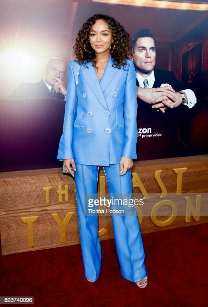 Ashley Madekwe attends the premiere of Amazon Studios 'The Last Tycoon' at the Harmony Gold Preview House and Theater on July 27 2017 in Hollywood...