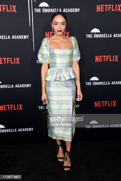 Ashley Madekwe attends the premiere of Netflix's The Umbrella Academy at ArcLight Hollywood on February 12 2019 in Hollywood California