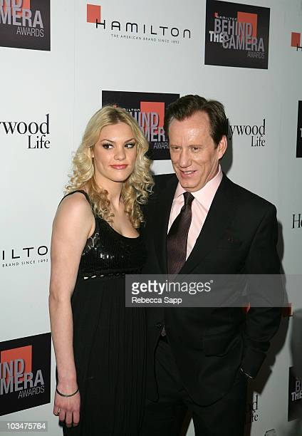 Ashley Madison and actor James Woods at the Hamilton Behind the Camera Awards Hosted by Hollywood Life at The Highlands on November 11, 2007 in...