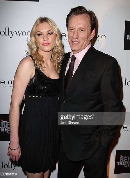 Ashley Madison and actor James Woods at the Hamilton Behind the Camera Awards Hosted by Hollywood Life at The Highlands on November 11 2007 in...