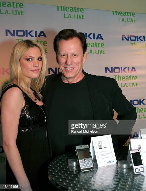 Ashley Madison and actor James Woods at the Nokia Gift Lounge in the new Nokia Theater on October 18, 2007 in Los Angeles.