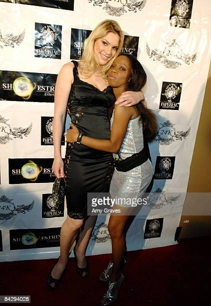 Ashley Madison and Charmaine Blake attend the Birthday Bash for Hollywood Publicist Charmaine Blake on January 14 2009 in Los Angeles California