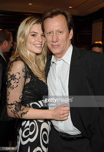 Ashley Madison and James Woods during Paradigm and Imagine Television Shark Premiere Party in Beverly Hills California United States